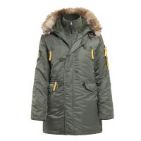 Куртка Husky Woman's Olive/Yellow (Apolloget)