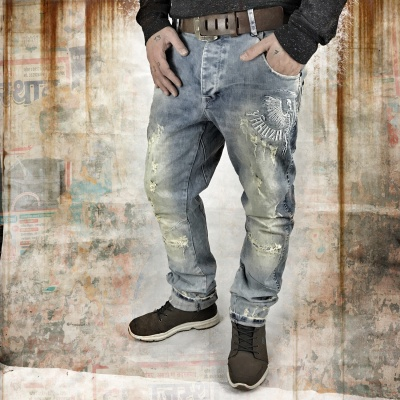 Джинсы Skeleton Anti Fit Jeans (Yakuza)